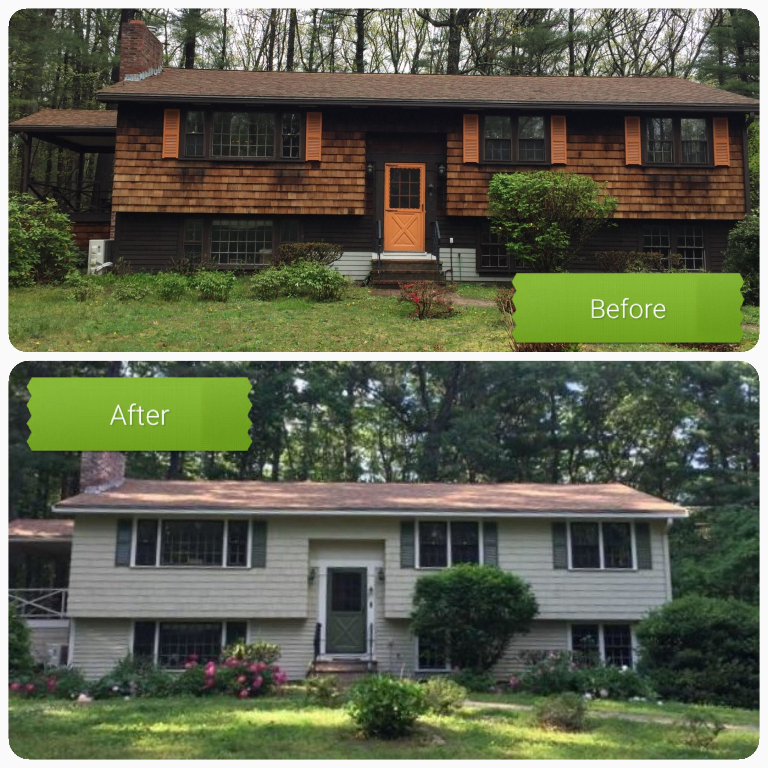NH residential painting before and after